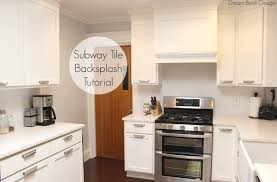 White Subway Tile Kitchen Backsplash Easy Diy Subway Tile Backsplash Tutorial Dream Book Design