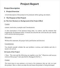 sample project report project status report template free sample