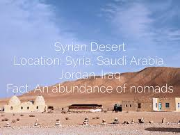syrian desert middle east haiku deck project by owen young