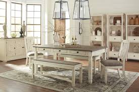 Dining Room Table For 2 Bolanburg Rect Dining Table 2 Uph Side Chairs 2 Uph Benches