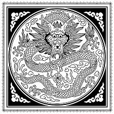 dragon coloring u0027motif magic u0027 craftfoxes