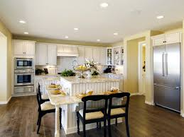 awesome kitchen with island table ideas and diy hanging lamps