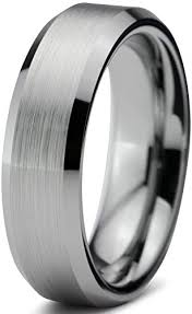 free wedding band tungsten wedding band ring free custom laser engraving