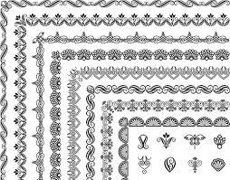 corner ornaments borders seamless vector 02 vector ornament free
