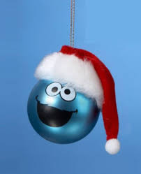 cookie monster sesame street christmas tree ornament
