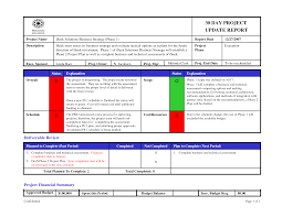 Project Report Template Excel Project Status Report Template Powerpoint Best Business Template