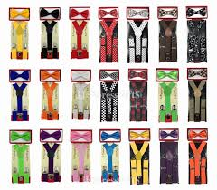 Matching Colors by Black Kid U0027s Suspender Bow Tie Combo Matching Colors Sets For Boys