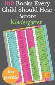 101 books every child needs to hear before kindergarten