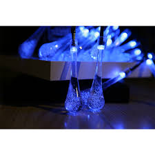 Solar Powered Patio Lights String by Rgb Led Solar Powered 4 8m Clear Water Drop String Fairy Light