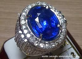 model cincin blue safir kemilau blue safir asli batu akik cincin