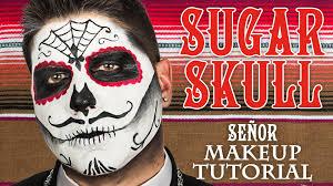 Halloween Makeup Male Male Sugar Skull Makeup Tutorial Whcdoessfx Youtube