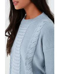 light blue cable knit sweater rhythm fleetwood light blue cable knit sweater where to buy how