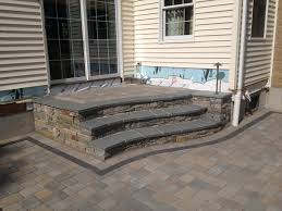 Install Patio Pavers by Stone Steps With Paver Overlay Walkway And Lighting Installed By