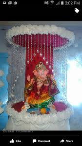 Home Temple Decoration Ideas Ganpati Decor Pooja Decor Pinterest Decoration Craft And