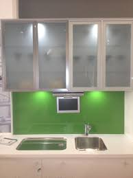 Stained Glass For Kitchen Cabinets by Kitchen Cabinet Door Glass In Clean Kitchen Shade White Kitchen