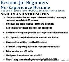 Example Of Skills In Resume by Resume For No Experience 20 Uxhandy Com