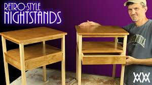 make a pair of retro style nightstands free plans youtube