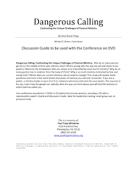 dangerous calling paul tripp discussion guide by paul tripp