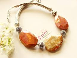 beaded red necklace images Designer beaded necklace red jasper gemstone jewelry at 3950 jpg