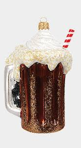root beer float with drinking straw polish mouth blown glass
