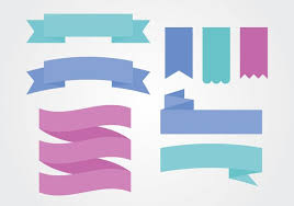 sash ribbon flat colorful ribbon sash banner vectors free vector