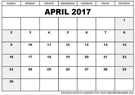 april calendar templates Toreto