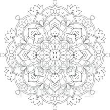 lotus flower mandala coloring pages printable colouring easy