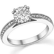 milgrain engagement ring moissanite cathedral milgrain engagement ring 0 18ct