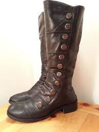 womens boots size 10 wide size 10 miz mooz marissa leather boot steunk