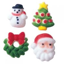 Mini Christmas Tree Cake Decorations by Edible Cake U0026 Cupcake Decorations Christmas Mini Christmas