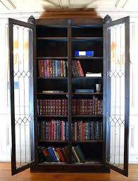 Macey Barrister Bookcase Bookcase Macey Four Stack Oak And Leaded Glass Barrister