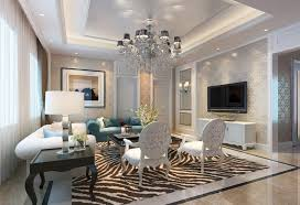 Zebra Print Area Rugs Luxurious Silver Chandelier As Ceiling Lights For Living Room With