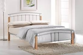 Metal King Size Bed Frame by 5ft King Size Tetras Metal Bed Frame By Total Furnishing Amazon
