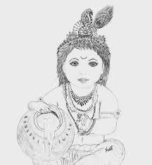 shuchi u0027s sketches krishna