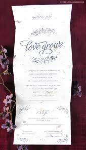 new seeds of love seal and send wedding invitations blog