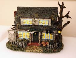 miniature halloween village dirt cheap decor halloween village platform