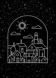 town background dark design geometric sketch vectors stock in