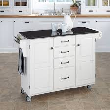 Kitchen Island Black Granite Top Home Styles Large Kitchen Cart White Black Granite Top