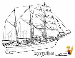 ship coloring page eson me