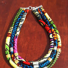 colored rope necklace images Best african fabric necklaces products on wanelo jpg