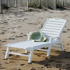 Plastic Lounge Chair Outdoor Polywood Ocean Shores Recycled Plastic Outdoor Chaise Lounge