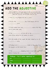 Declarative And Interrogative Sentences Worksheets 4th Grade Adjective Activity And Worksheet Pack This Is One Of The