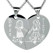 friendship heart necklace images Heart my very best friend necklace for 2 bff jpg