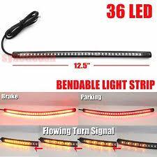 led light strip turn signal 12 bendable universal motorcycle led light strip tail brake flowing