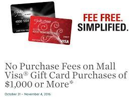 gift cards with no fees hot no fee visa gift cards at macerich malls till 11 4 danny