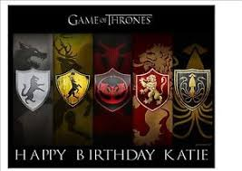 game thrones rice paper birthday cake topper ebay