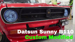 nissan sunny modified interior datsun 1200 b110 saloon custom modified exterior show galeri