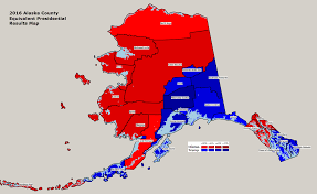 Map Election by Alaska 2016