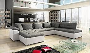 canapé grand grand canapé d angle alia moderne et design en tissu et simili