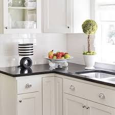 Backsplash With White Kitchen Cabinets Kitchen Countertops Backsplash White Subway Tile Ideas Granite